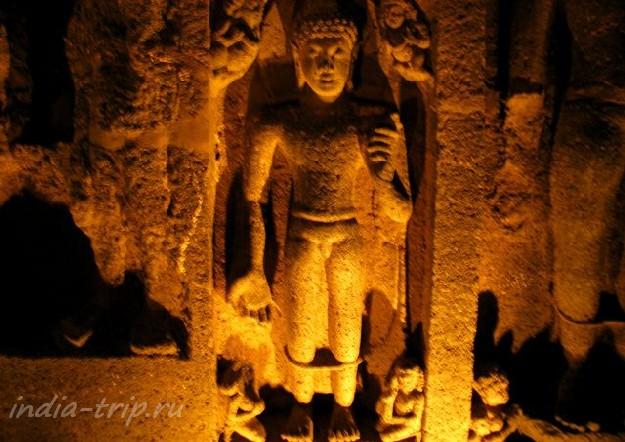 Скульптуры Аджанты