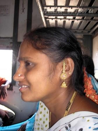 В вагоне индийского поезда