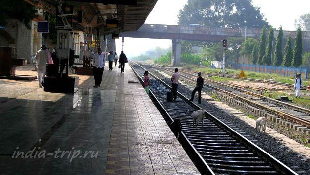 Вокзал в маленьком городке