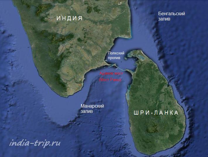 Мост Рамы на карте