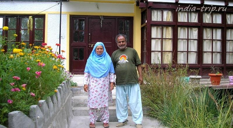 Семейная пара - владельцы отеля в Лехе