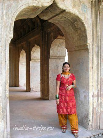 Индианка во дворце Орчхи