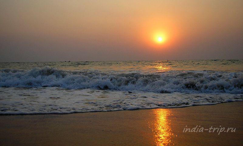 Закат на океане