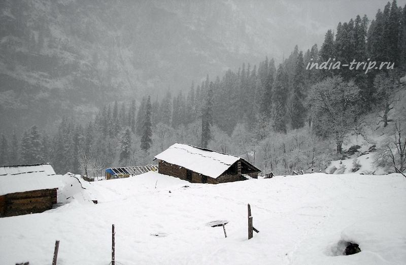 Кирганга в снегу