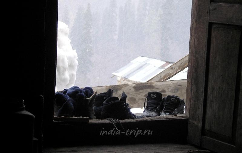 Наша обувь и снегопад