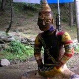 Васишт, глиняный Шива