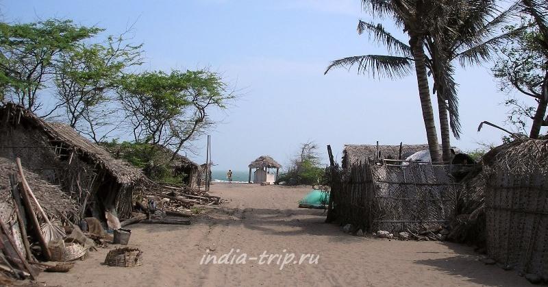 Деревня на берегу океана