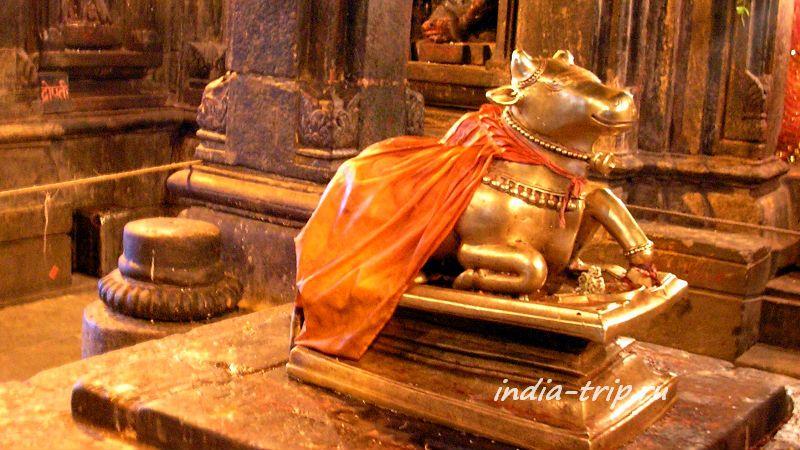 Священный бык в храме Кедарната