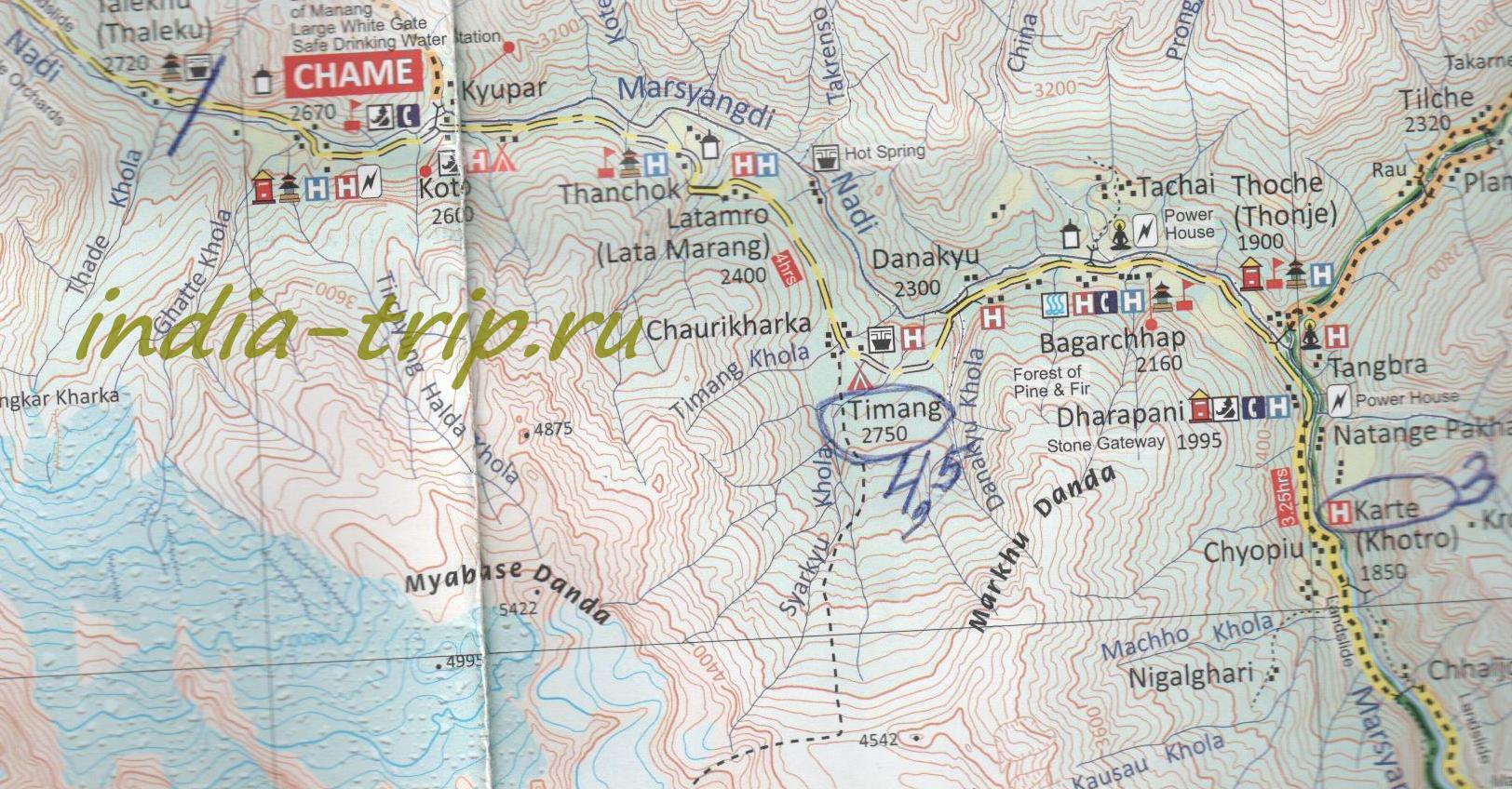 Карта 5-го дня