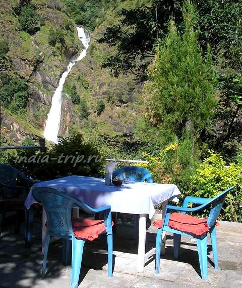 Вид на водопад