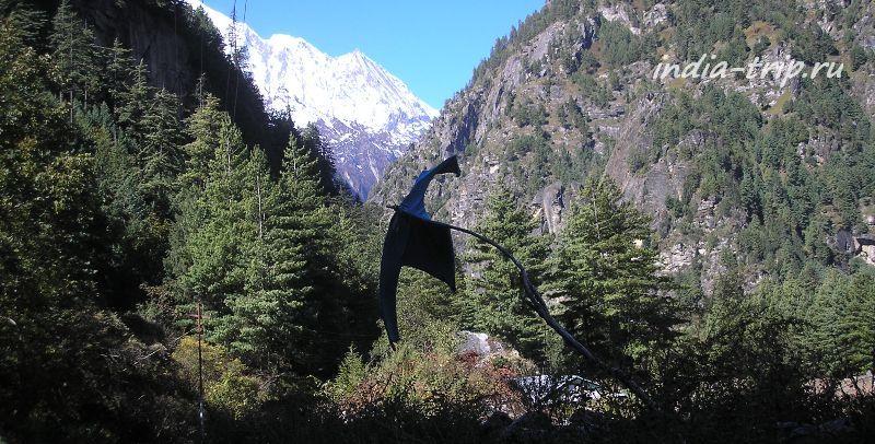 Вид на вершины