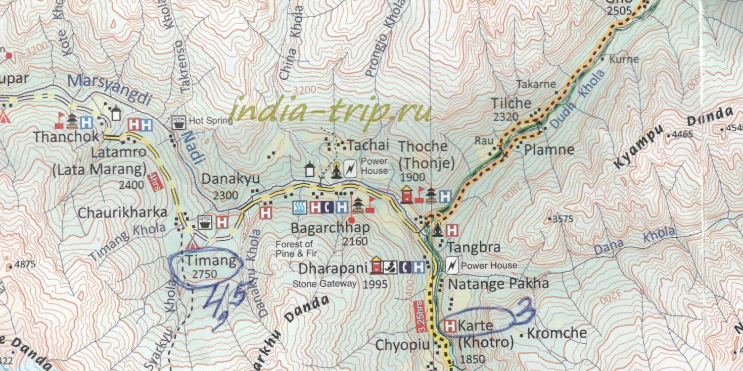 Трек, карта 4 дня