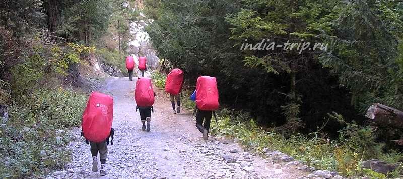 Группа непальских портеров
