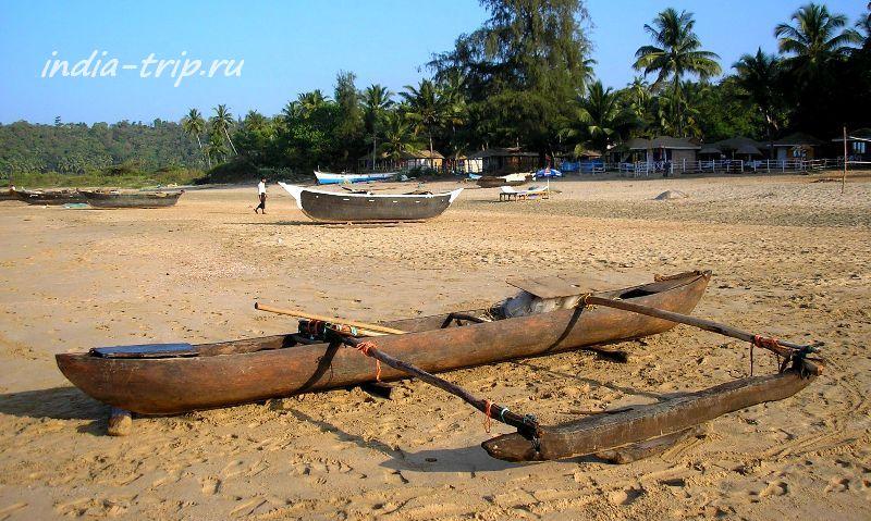 Южный Гоа, Агонда, рыбацкая лодка