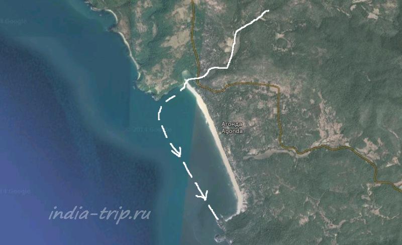 Каякинг в Агонде