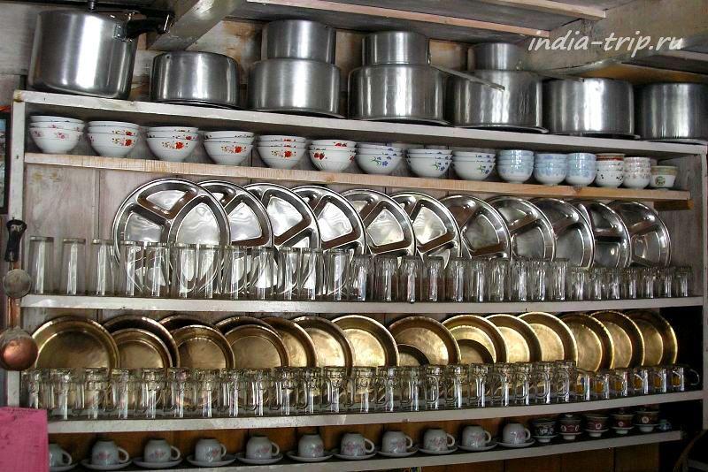 Посуда в столовой Талекху