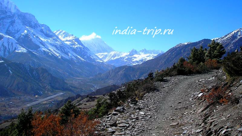 Непал, тропа в горах
