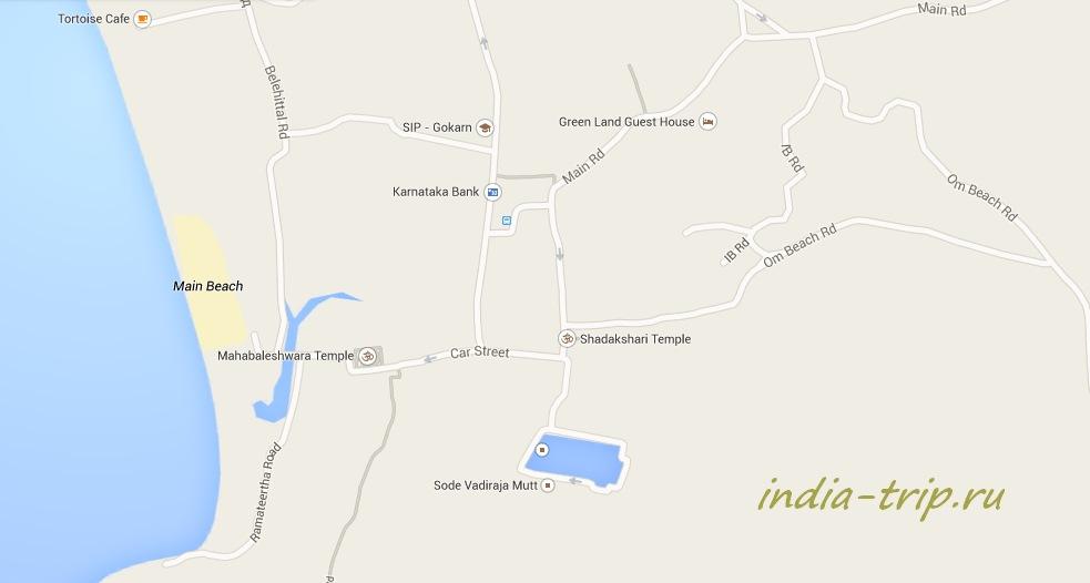 Гокарна, карта