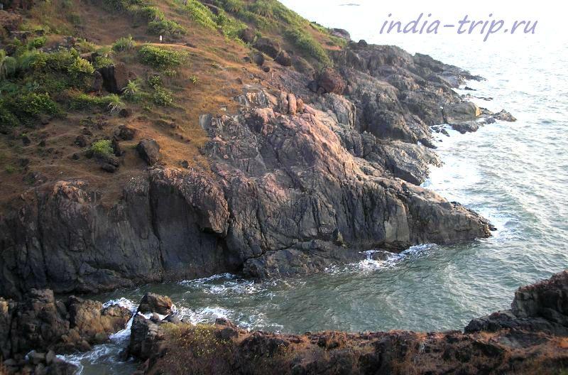 Гокарна, скалы, море