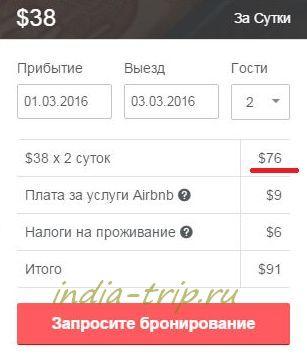 Airbnb, расчет цены