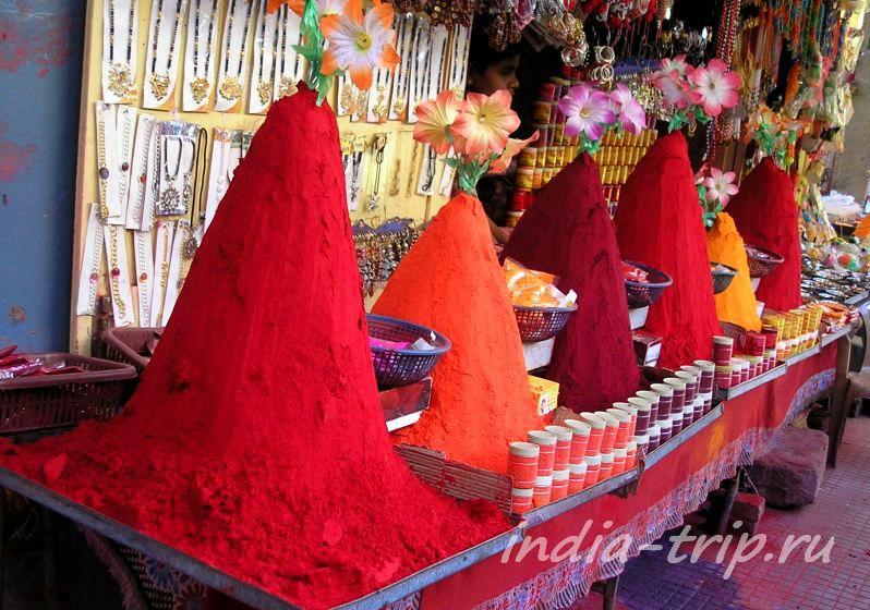 Рыночек в Омкарешваре