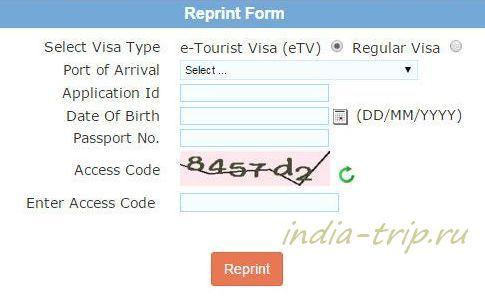 Электронная индийская виза