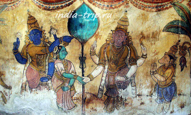 Фрески храма Брихадишвара