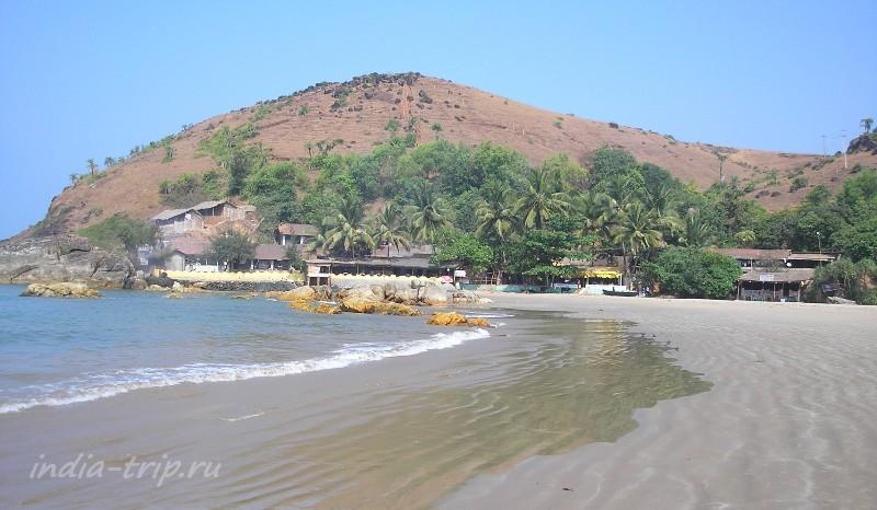 Пляж Кудли и мыс