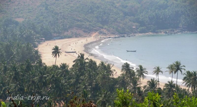 Вид на пляж Кудли