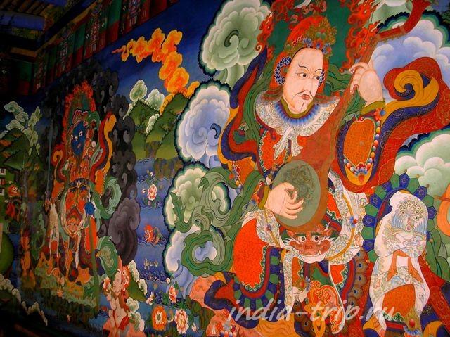 Ламаюру, рисунок на стене