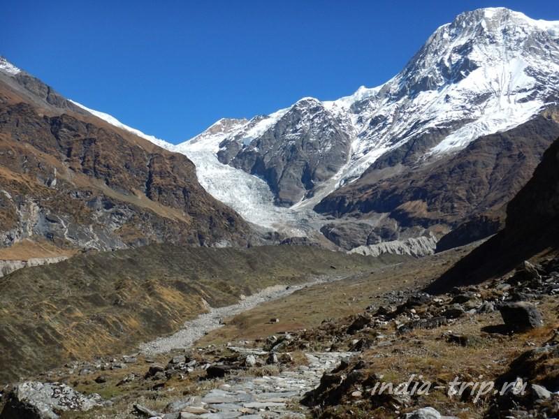Вид на ледник от ашрама