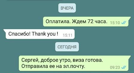 По электронной визе